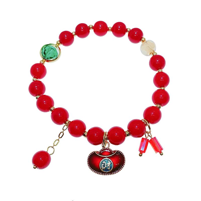 红色元宝流苏串珠手链批发价格9.90元,批发,义乌,市场,进货,货源,批发网,批发市场