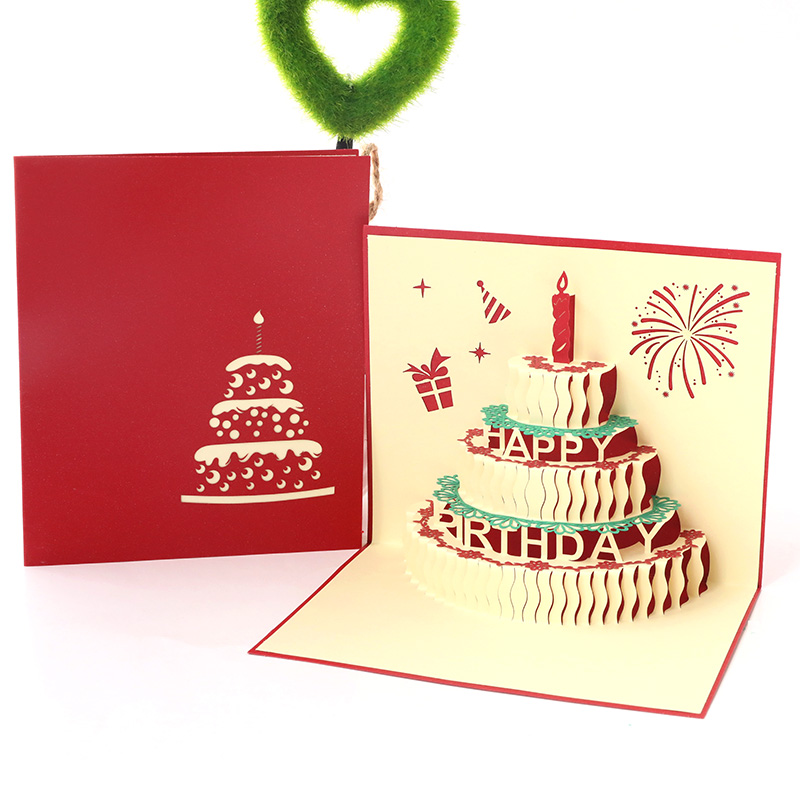 Birthday Card Three Dimensional Staff Custom Send Boys Korean