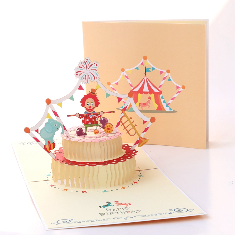 Usd 519 Birthday Card Three Dimensional Staff To Send Boys Korean