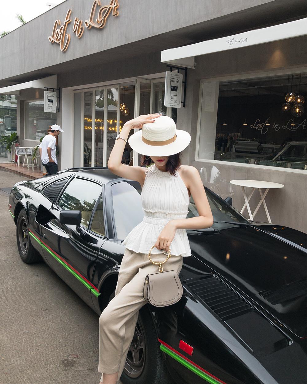 5.30 mới MC 2018 mùa hè mới mỏng dây đeo xếp li eo ngắn ăn mặc nữ