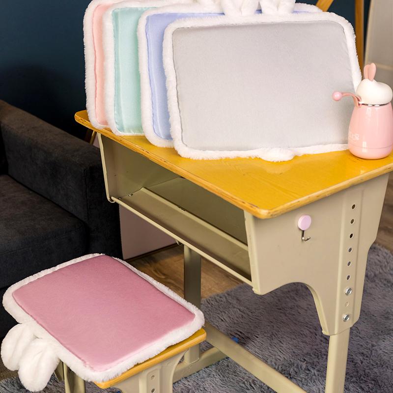 冰凉记忆棉坐垫椅子学生夏天教室专用夏季透气毛绒椅垫凳子小屁垫