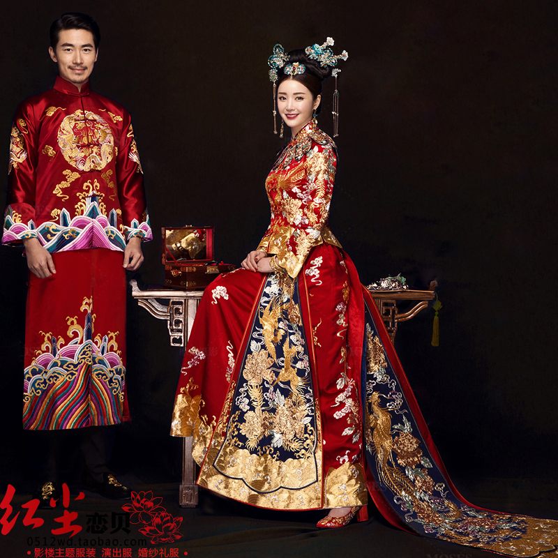 237dee5d4 Studio theme clothing fashion clothing photography longfeng with embroidery  costume photo dress couple Chinese style photo