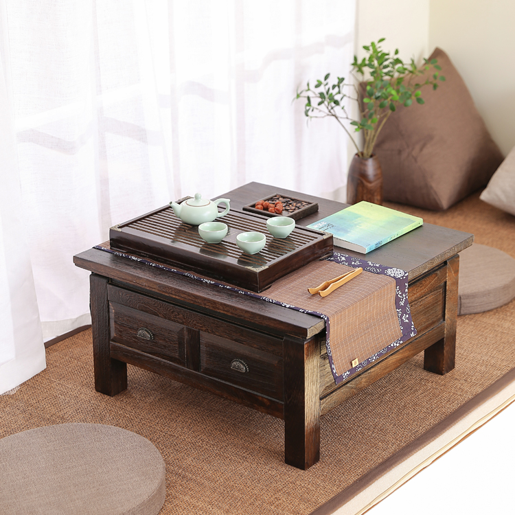 Anese Style Solid Wood Tatami Coffee Table Low Tea