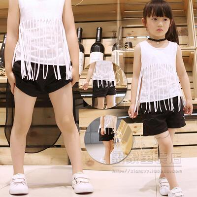 2018 children's clothing new girls solid color shorts cotton slacks personality boys and girls wild shorts big boy pants