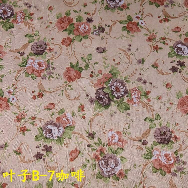 客厅卧半遮光窗帘布料 服装古装戏服深沉咖啡色暗纹提花印花面料