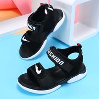 Детские сандалии мужской 2019 новая коллекция корейская версия Большой мальчик летом на мальчика Классная обувь, детский мягкий низ нескользящие Tide дикий