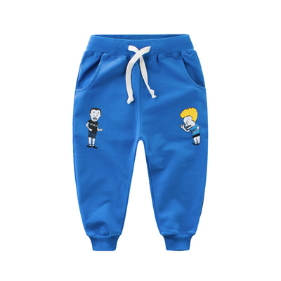 Children's clothing new baby pants spring and autumn 2018 new children's sports pants cartoon spring terry casual trousers