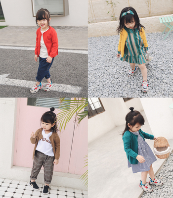 Xixi home children's clothing cardigan 2018 spring new children's embroidery cotton knitted jacket