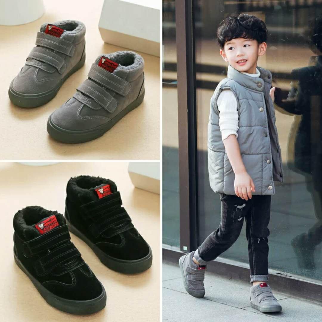 小呆家童鞋儿童棉鞋男童2018新款二棉鞋冬季鞋子加绒冬天童鞋男孩