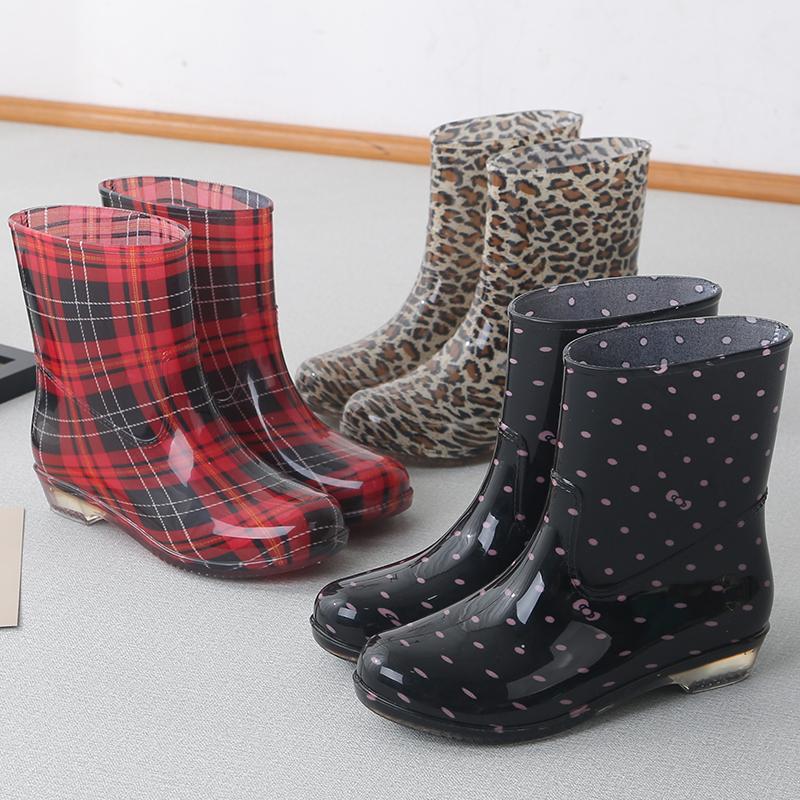 春夏雨鞋女韩国可爱雨靴防滑短筒水靴时尚女士防水鞋套鞋中筒胶鞋