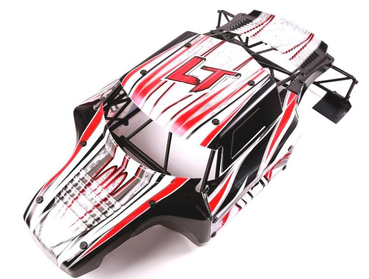 1 5 Scale Black Red Body Shell Kits With Roll Cage For Losi 5ive T Kmx2 Ql 5t Ddt 4x4 Truck Rc Rovan Wlt Lt 1 5 Scale Body Shellrc Body Kit Aliexpress