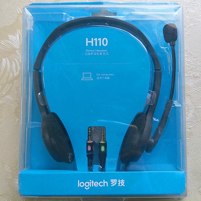 Logitech/罗技 H110 H111 H151 电脑耳机 立体声头戴式耳机耳麦