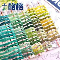 Французская DMC Ten слово Вышивальная нить полностью обложка зеленый отдел(94 цвета 2 метра на цвет)