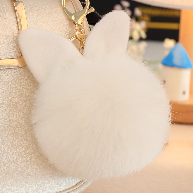 Interior Accessories Automobiles & Motorcycles Hard-Working Faux Rabbit Fur Decoration Key Chain Women Bag Pendant Accessories Keyring Fashion Jewelry Gifts Backpack Cute Cartoon Car Diversified In Packaging