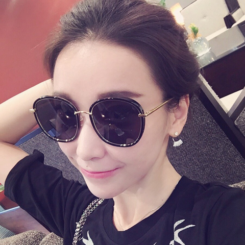 f5e5f58b3e 2019 new Korean sunglasses round face Chung Yi star sunglasses female tide  polarizer male retro · Zoom · lightbox moreview · lightbox moreview ·  lightbox ...
