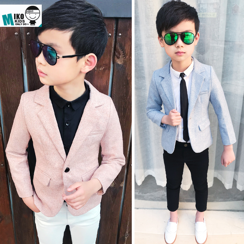 9b7f326818cbc 2019 new spring children's clothing children's small Suit Suit handsome boy  suit jacket flower girl small dress
