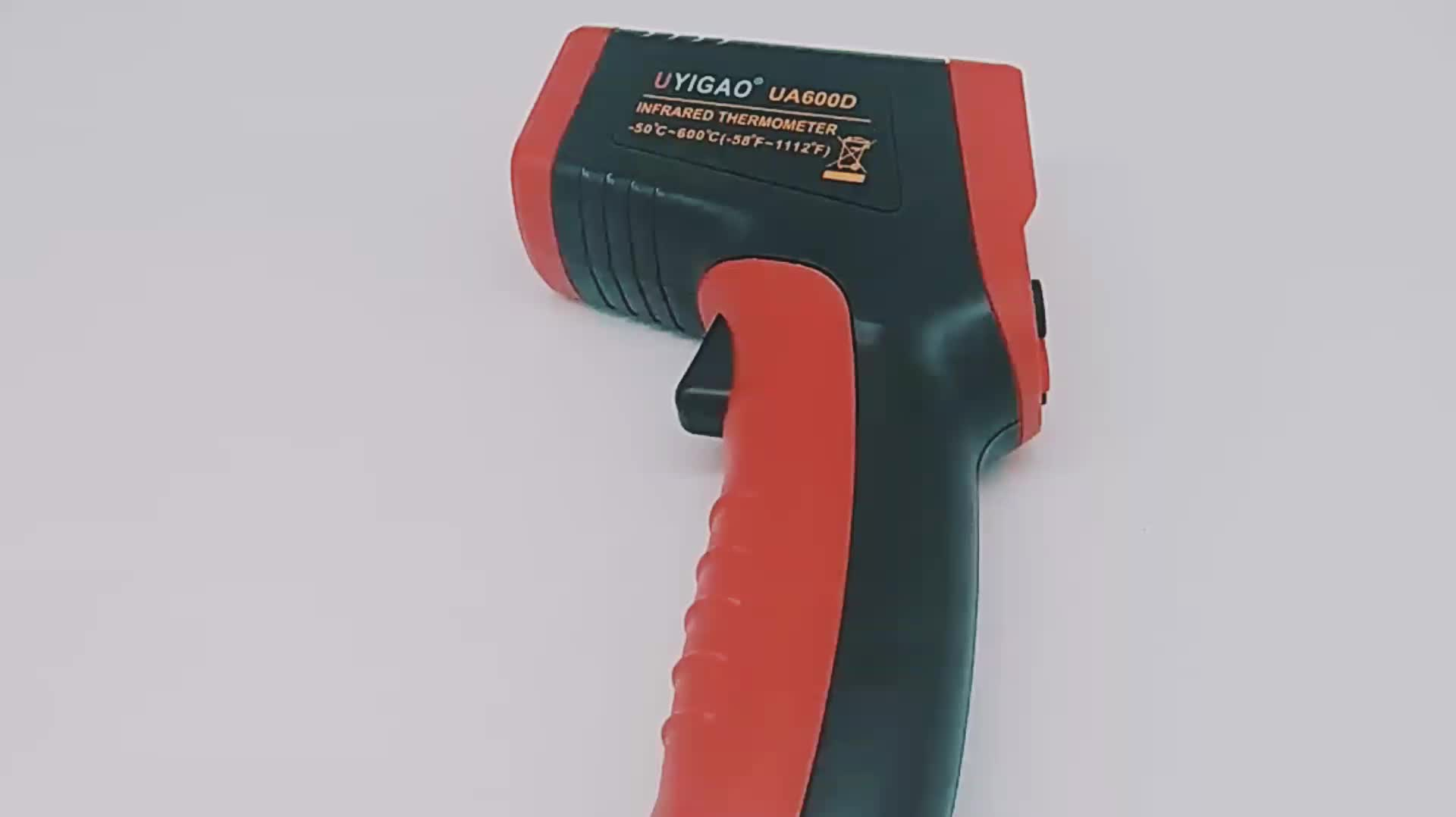 Red Laser Infrared ThermometerNon-Contact LCD Temperature Meter Gun Point -50~600C