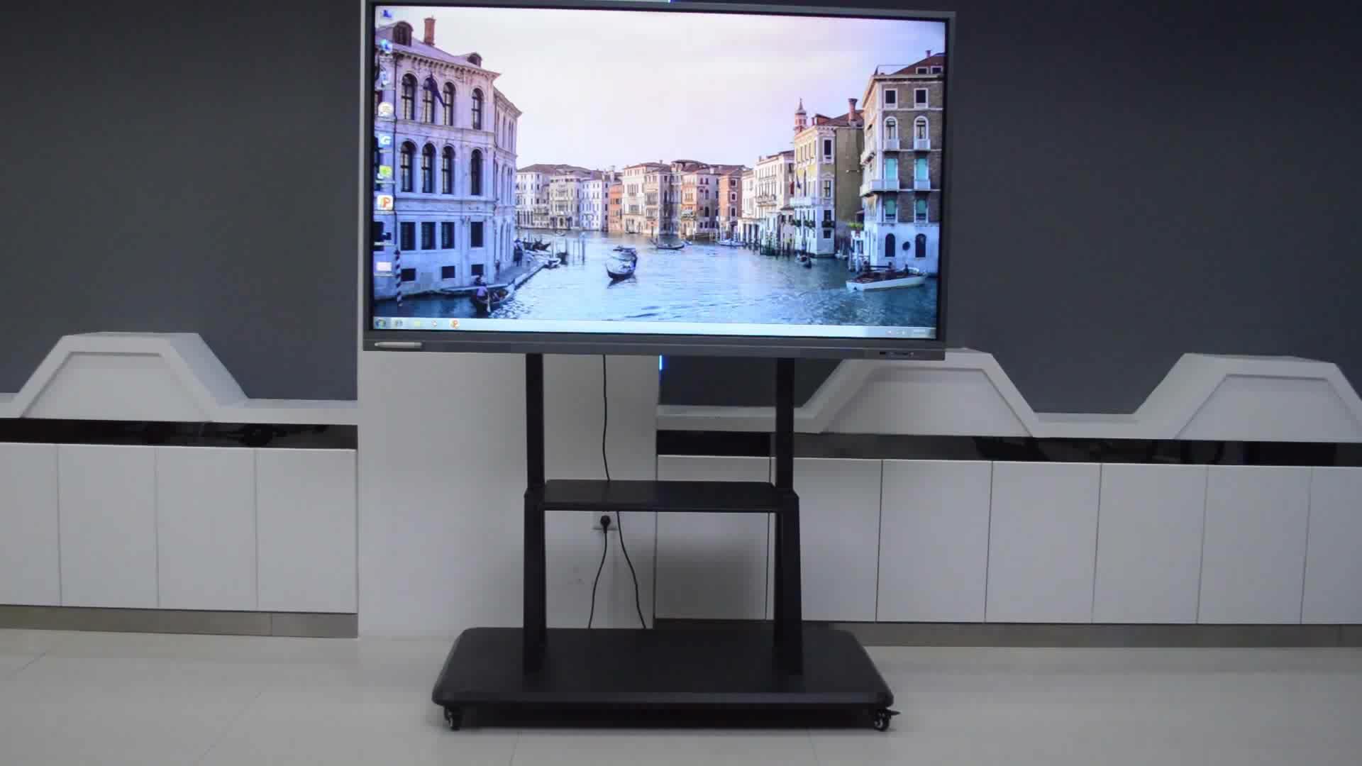 Taşınabilir Parmak dokunmatik interaktif beyaz tahta Optik Interaktif Beyaz Tahta