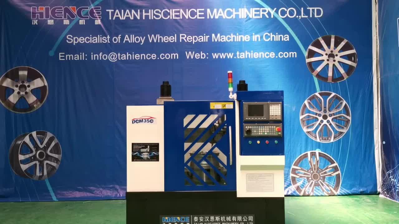 Diamond cutting vertical alloy wheel refinishing  rim repair CNC lathe machine for sale  DCM35C