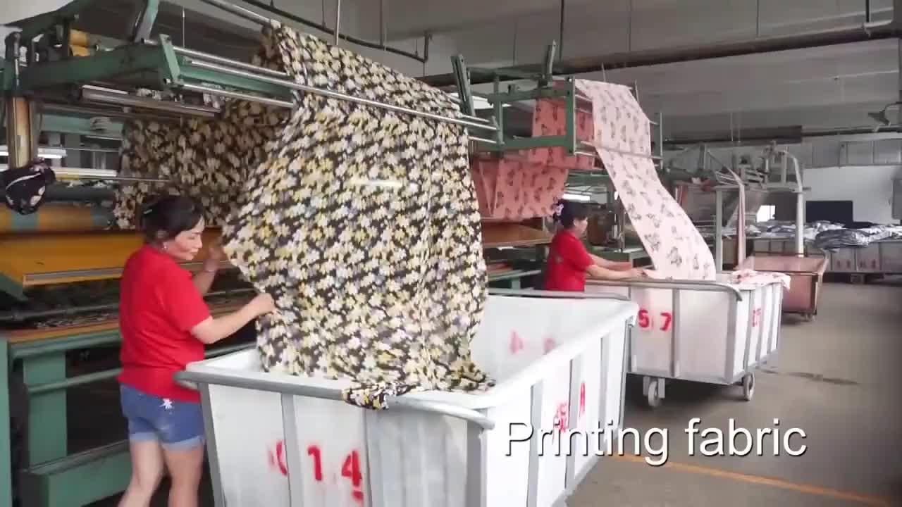 Новейший дизайн супер мягкий цветочный узор 100% хлопок пузырьковый принт ткань для платья