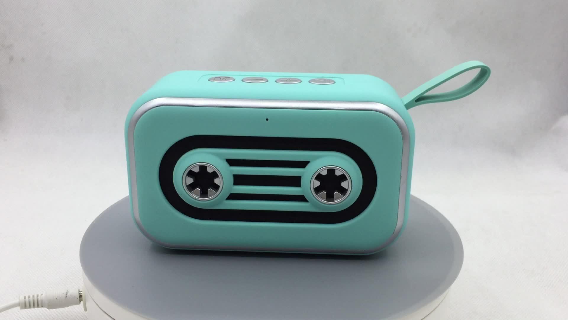 2019 ใหม่ mini sound box ลำโพงไร้สายบลูทูธแบบพกพาพอร์ต usb