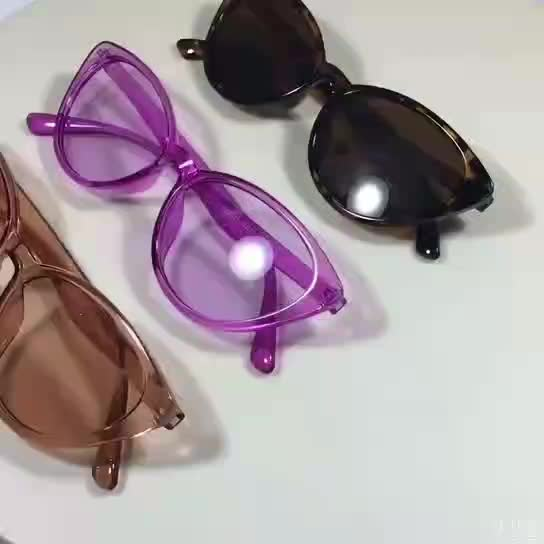 New Model Pink Color PC Cat Eye Sunglasses Women 2019 With CE FDA