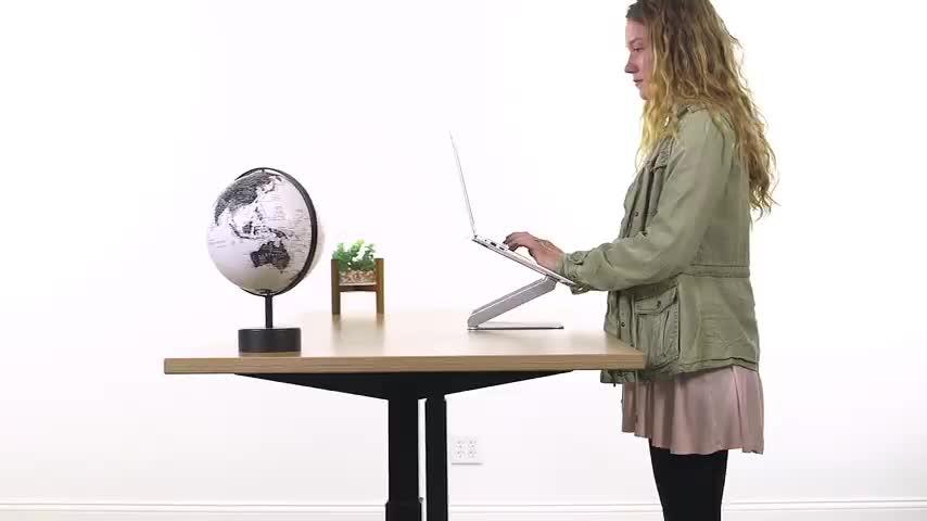 Solution for Amazon B2C seller adjustable foldable portable flexible aluminium laptop stand