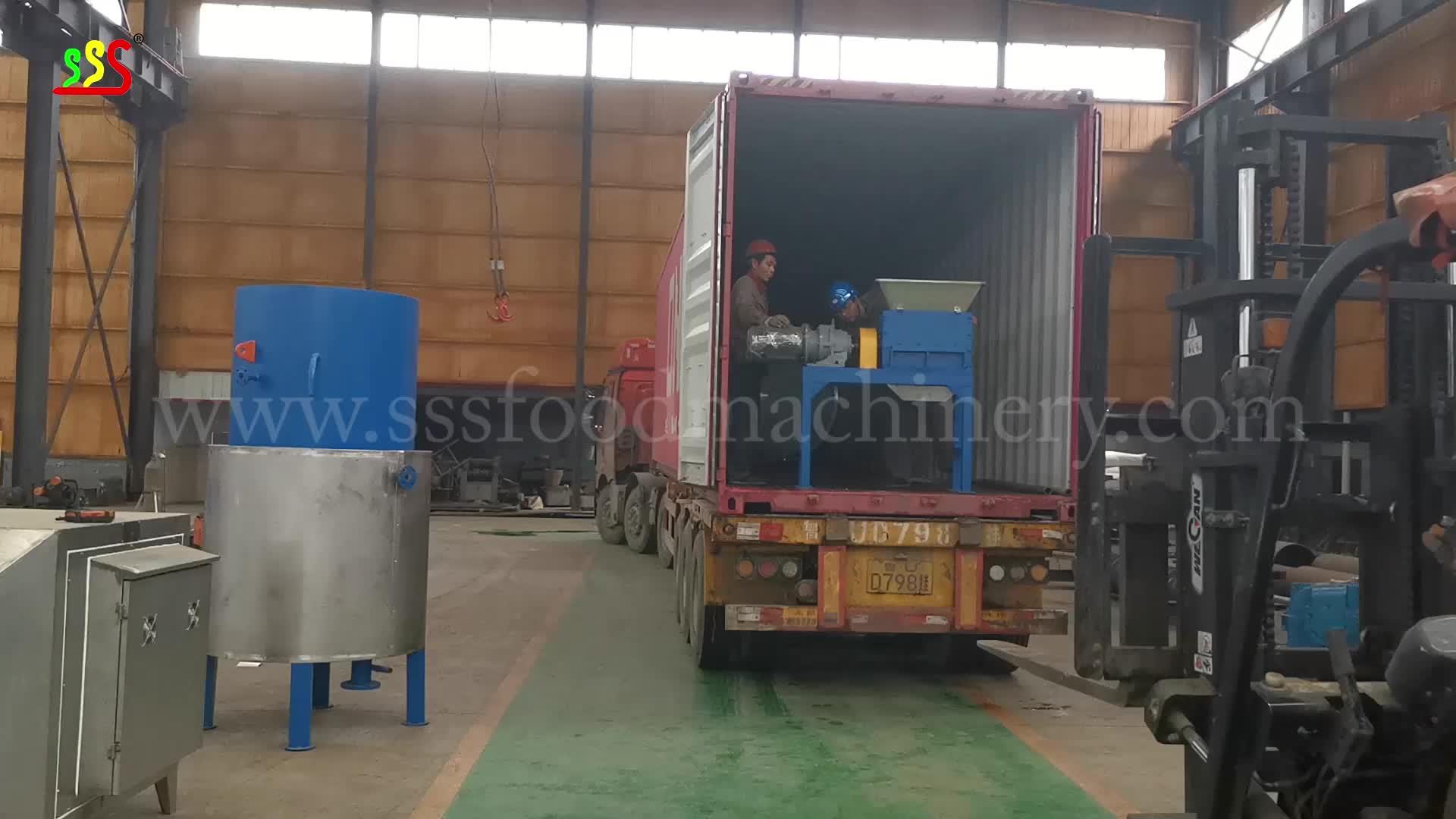 3 toneladas de material/lote integrado cocina y secado de pescado comer harina de pescado de la máquina