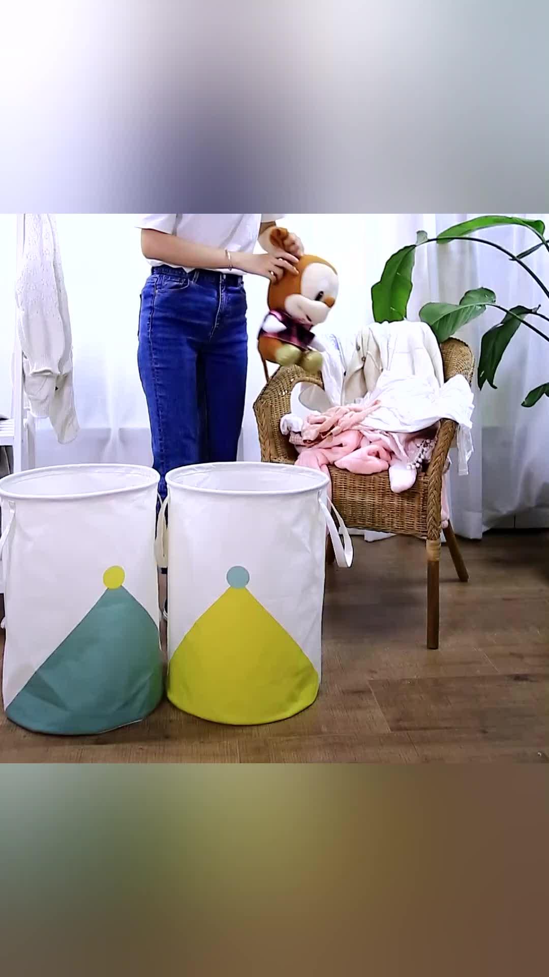 Giỏ Đựng Quần Áo Bẩn Có Thể Giặt Và Xếp Gọn Được Bán Chạy Với Tay Cầm Dài