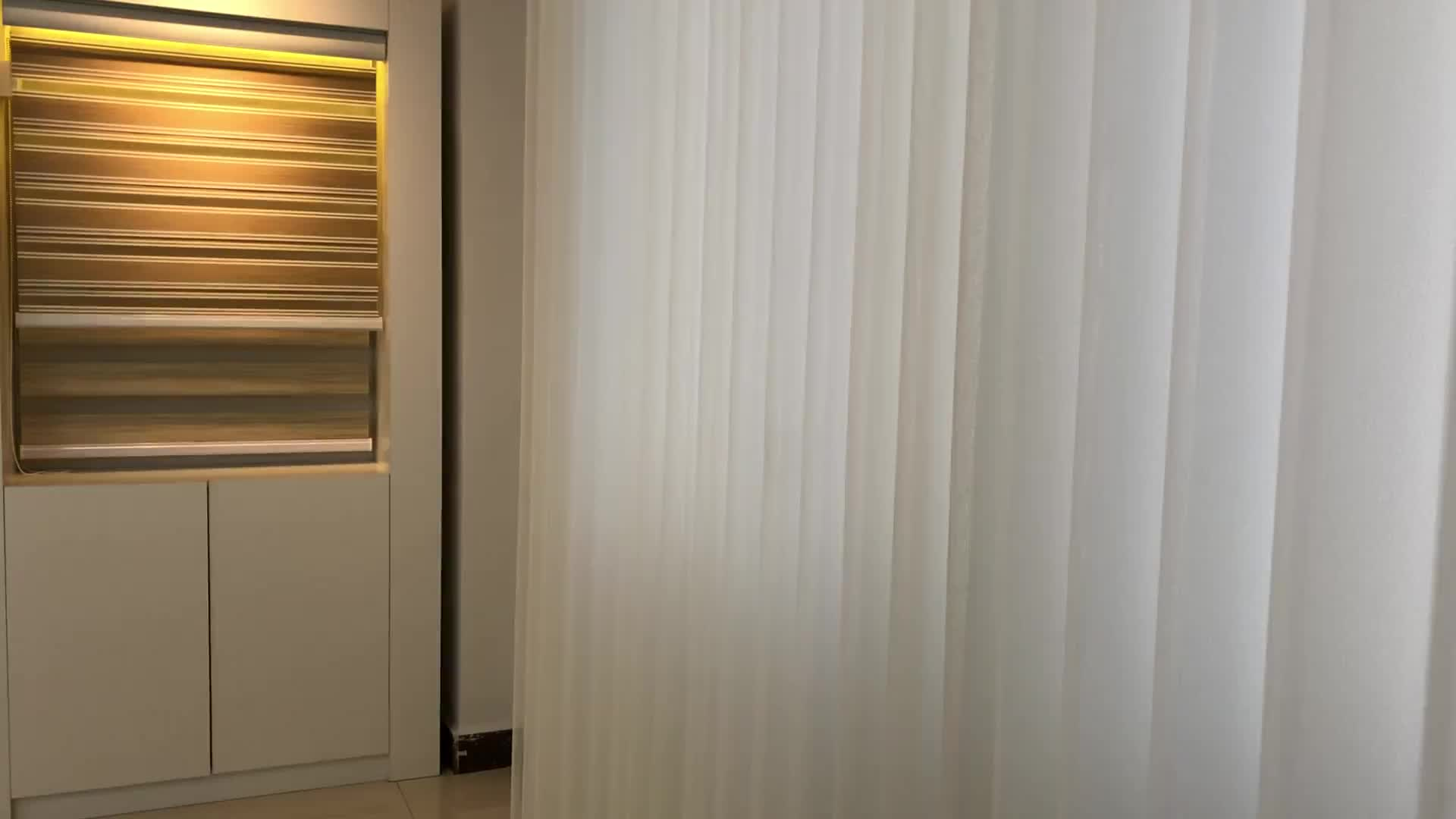 Wholesale Hot Sell luxurious Window Curtain window blind sheer curtain motorized vertical blind