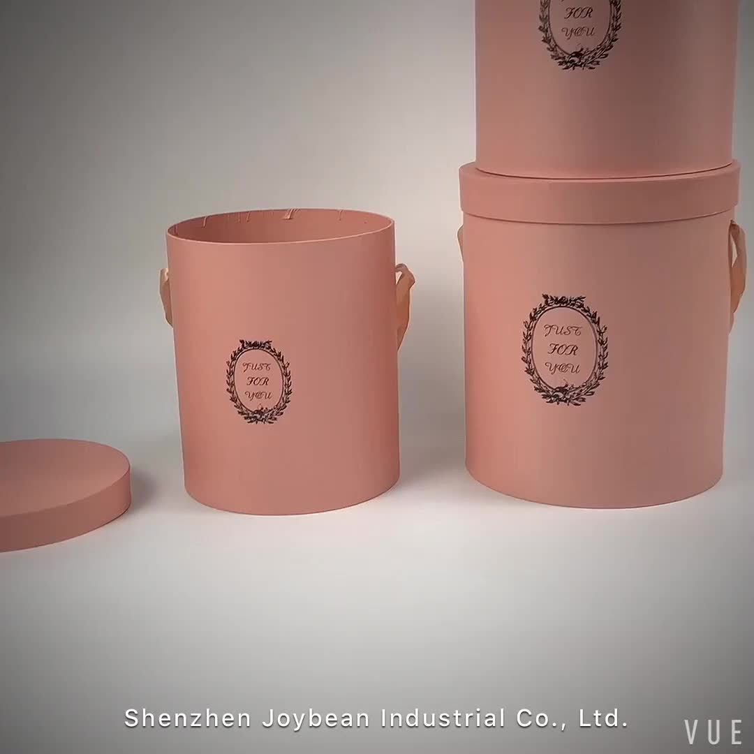 (In Stock)High Quality Paper Round Flower Box With Custom Logo, Luxury Cardboard Boxes For Flowers
