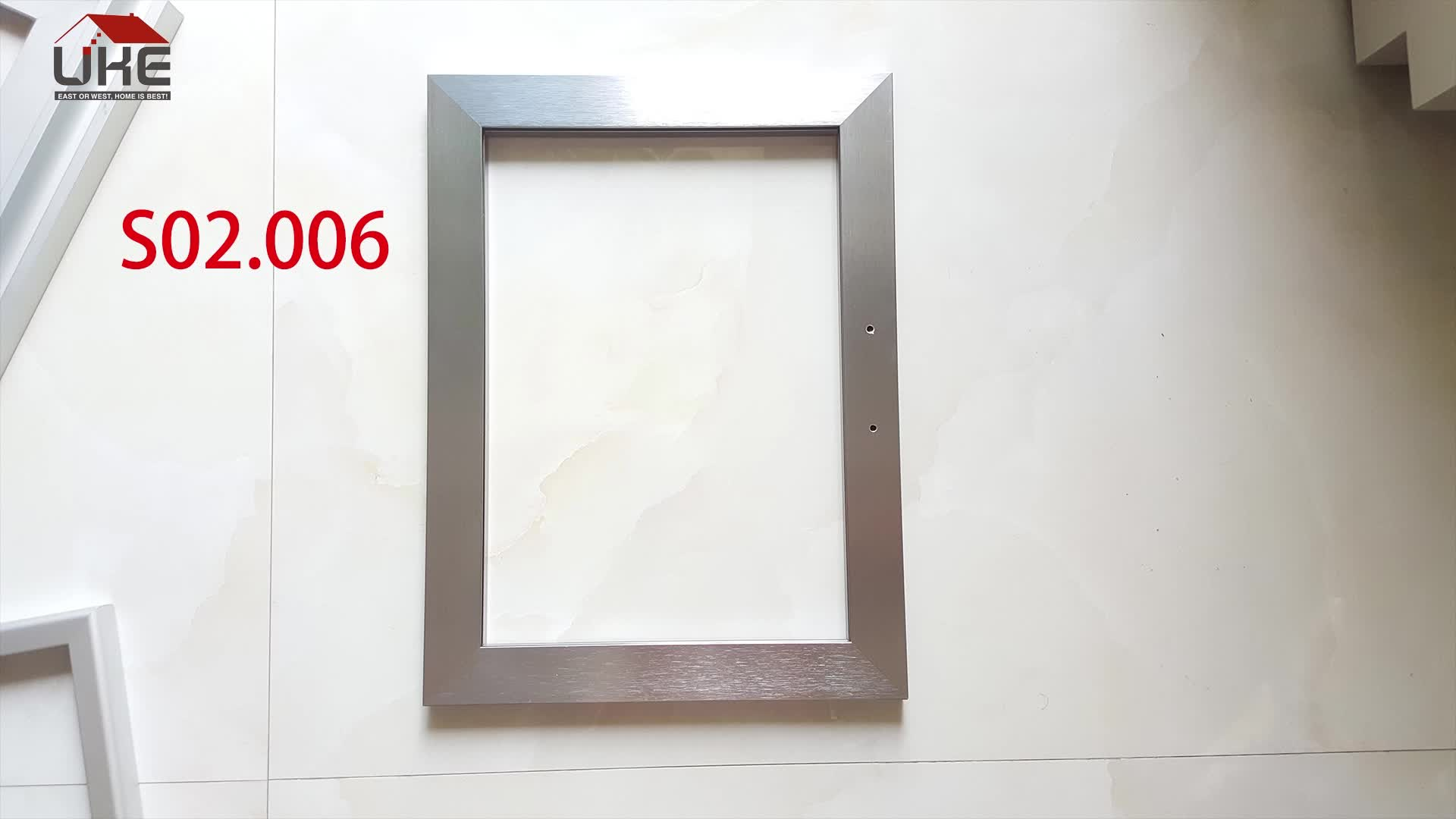 S02 006 Square Anodized Aluminum Frame For Kitchen Cabinet Glass Door