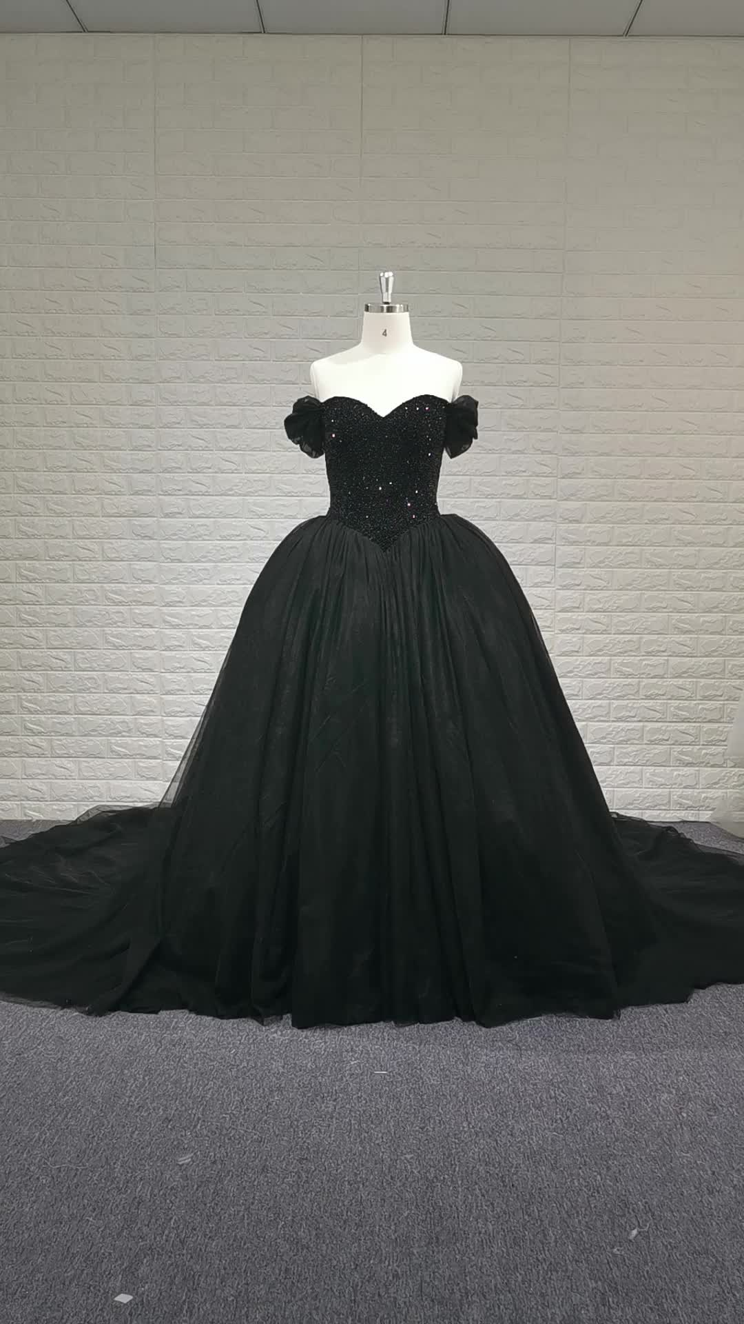 Off Shoulder Luxury Sweetheart Crystal Ball Gown Cathedral Train Black Wedding Dresses Buy Off Shoulder Black Wedding Dresses Black Crystal Ball Gown Wedding Dress Luxury Cathedral Train Bridal Gowns Product On Alibaba Com