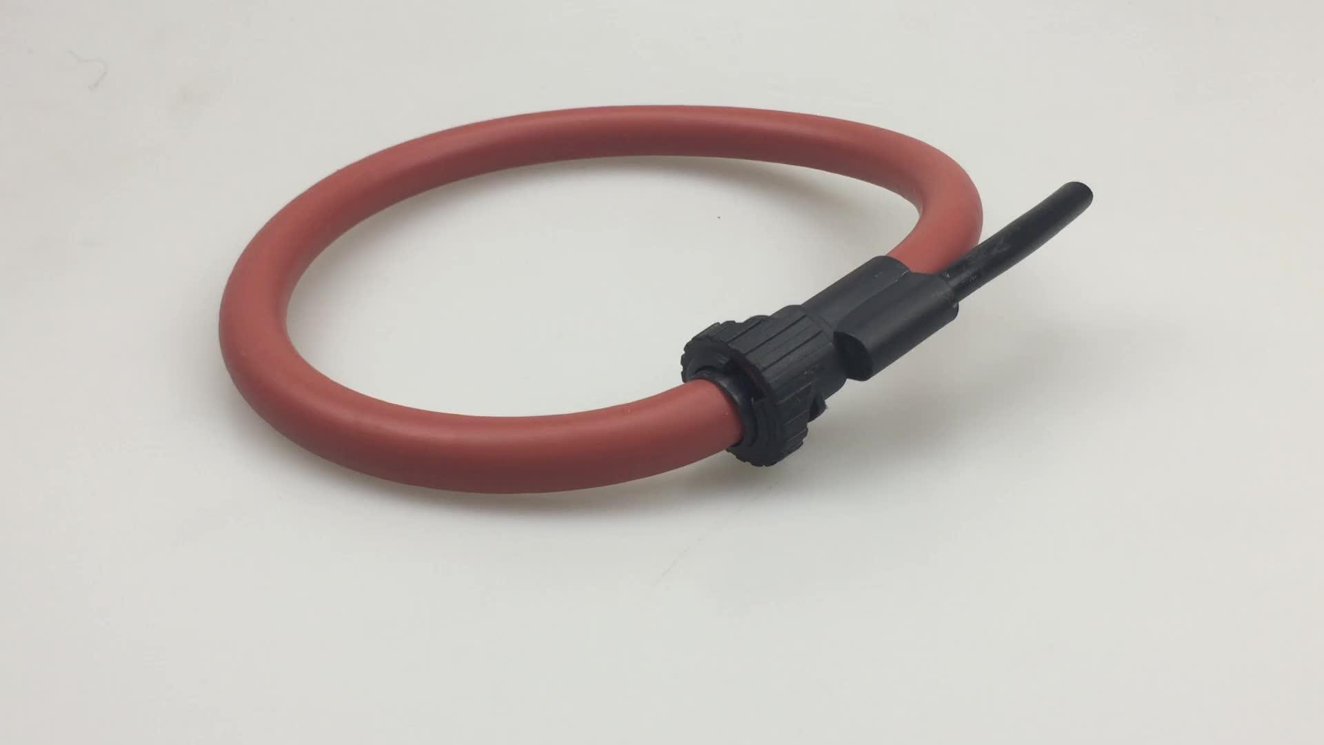 Alta Precisión 1000A Flexible bobina rogowski personalizado abrazadera en el sensor de corriente