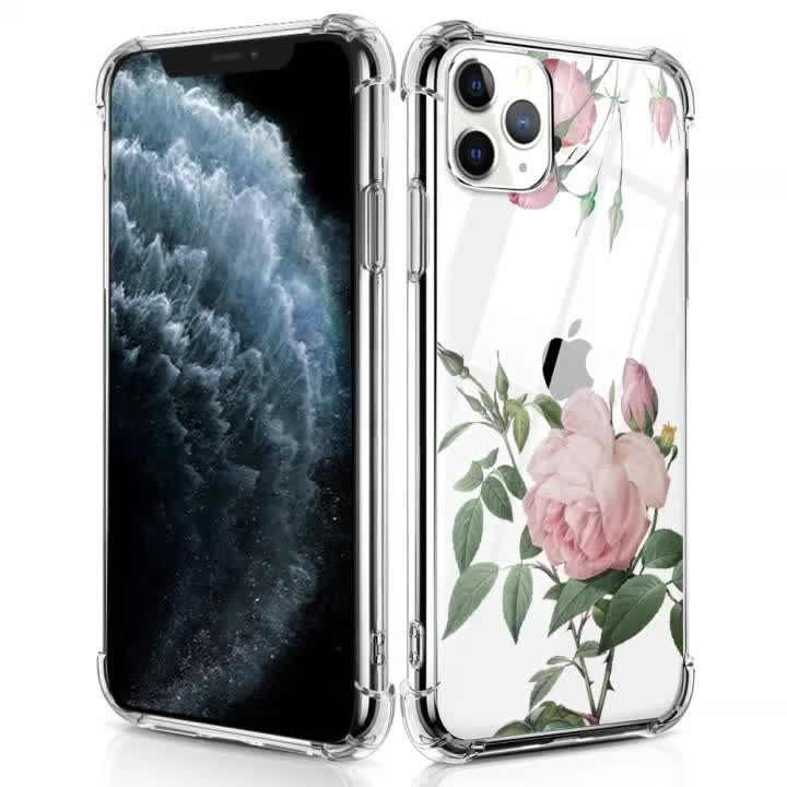 Anti Shock Crystal Clear TPU Transparent Phone Case For iphone 11/11 pro/11 pro max
