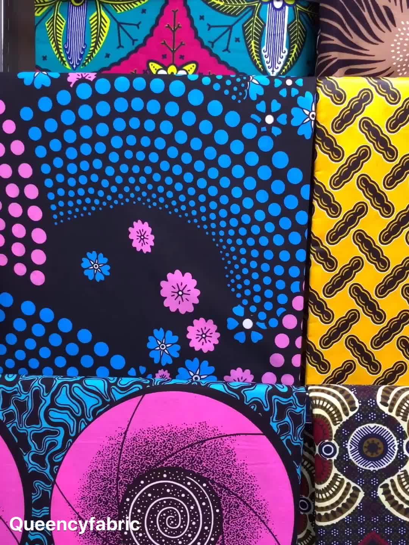 Queency Heißer Verkauf Ankara Stoff Afrikanischen Wachs Druckt Hohe Qualität Holland Dutch Wachs Stoff Für Frauen