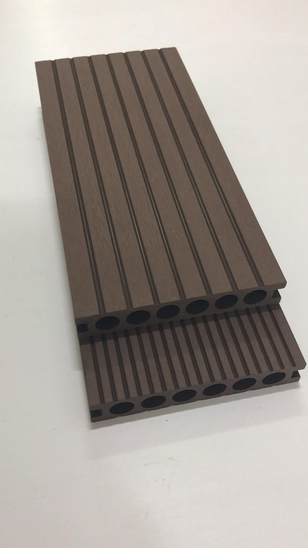 Mooie waterdichte outdoor hout kunststof composiet terrasplanken/floor covering
