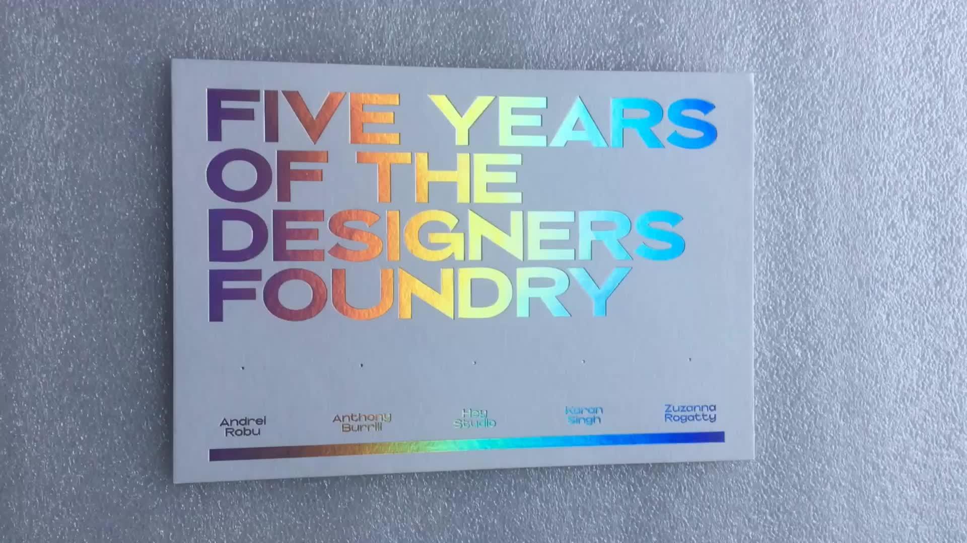 Wedding Invitation Card Designs Printing Rainbow Foil Embossed ...