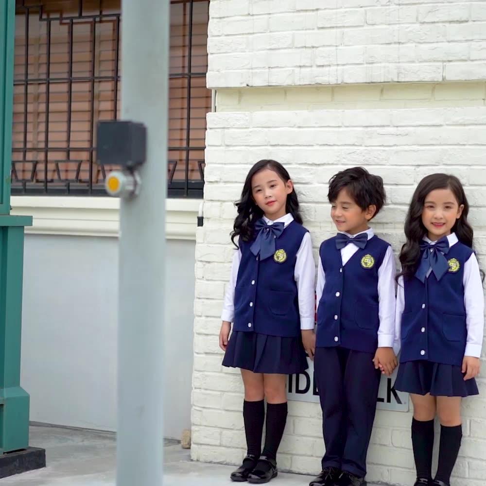 V-ausschnitt Uniform Pullover Pullover/schuluniform Strickjacke Pullover