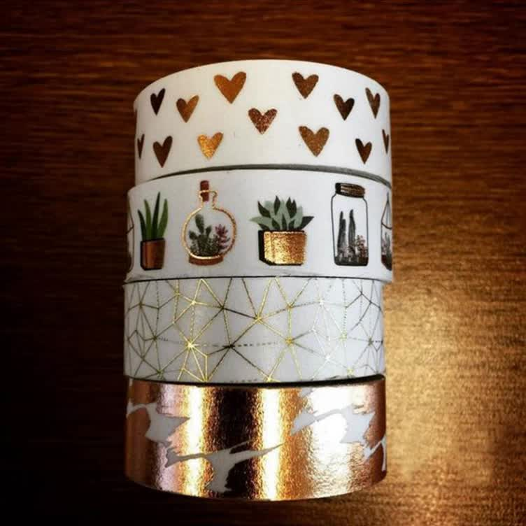 Free Samples Wrapping Label Patterned Custom Make Decorative Washi Tape