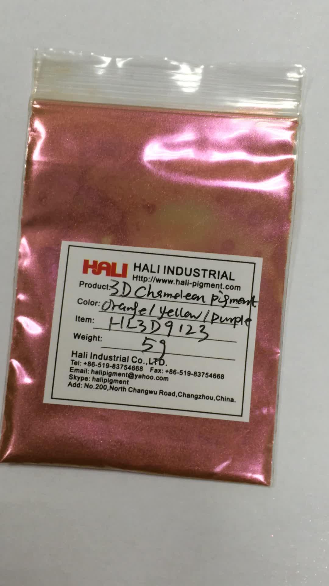 3D chameleon magnetic pigment,three-dimensional powder,item:HL3D9123,color:orange/yellow/purple