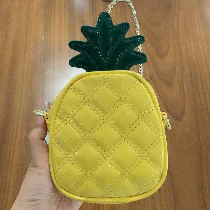 Großhandel Hohe Qualität Mädchen Sommer Niedlich Obst Kette Geldbörse Mini Schulter Tasche Kinder Geldbörsen Handtaschen