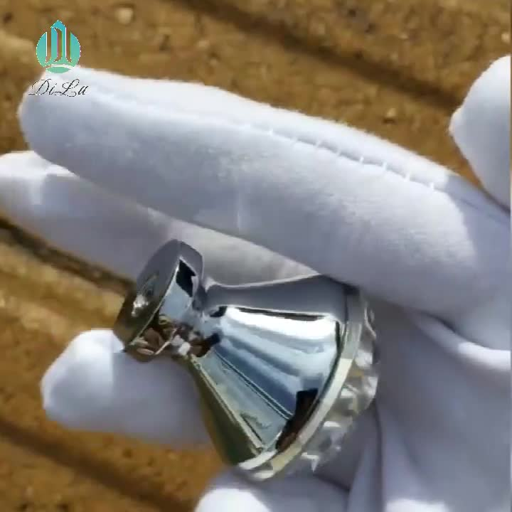 Clear Crystal Glass Diamond Furniture Dresser Wardrobe Door Knobs Faceted Kitchen Cabinet Drawer Door Knob Clear Crystal Handles