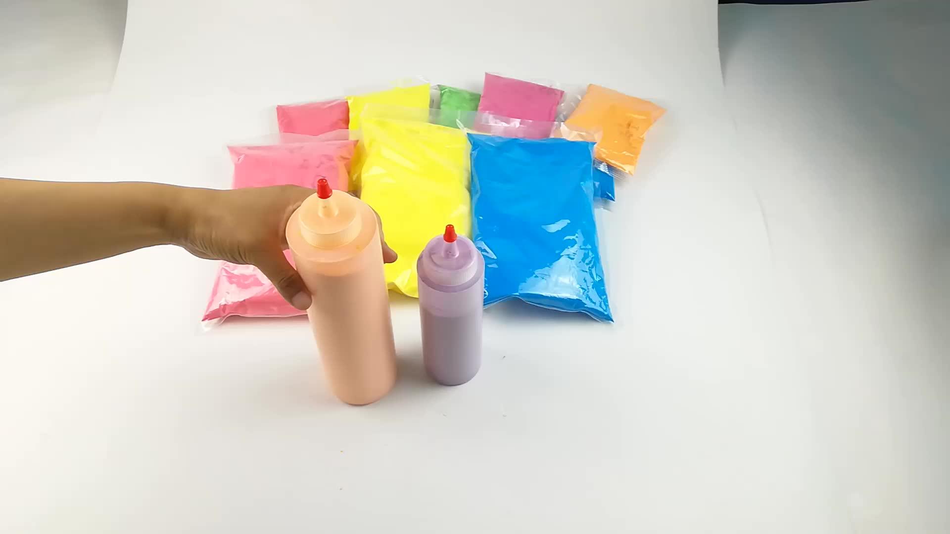 350g Squseeze Bottle Holi Powder Color War  Cornstarched  Nature Bulk Holi Powder