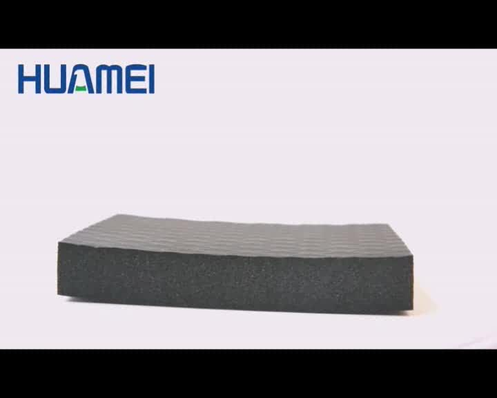 Black building materials rubber foam insulated roof sheets prices