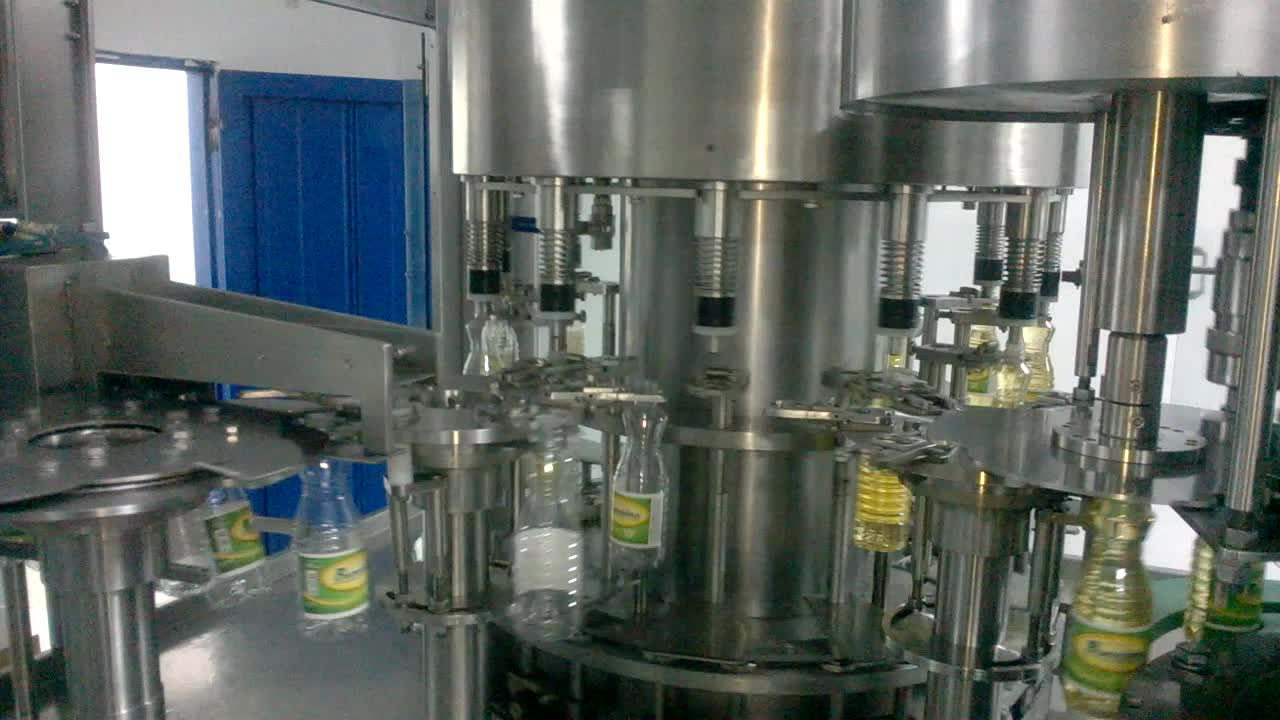 0.55-0.8MPa SUS304 Stainless Steel CE approved automatic oil linear type  filling and packing machine