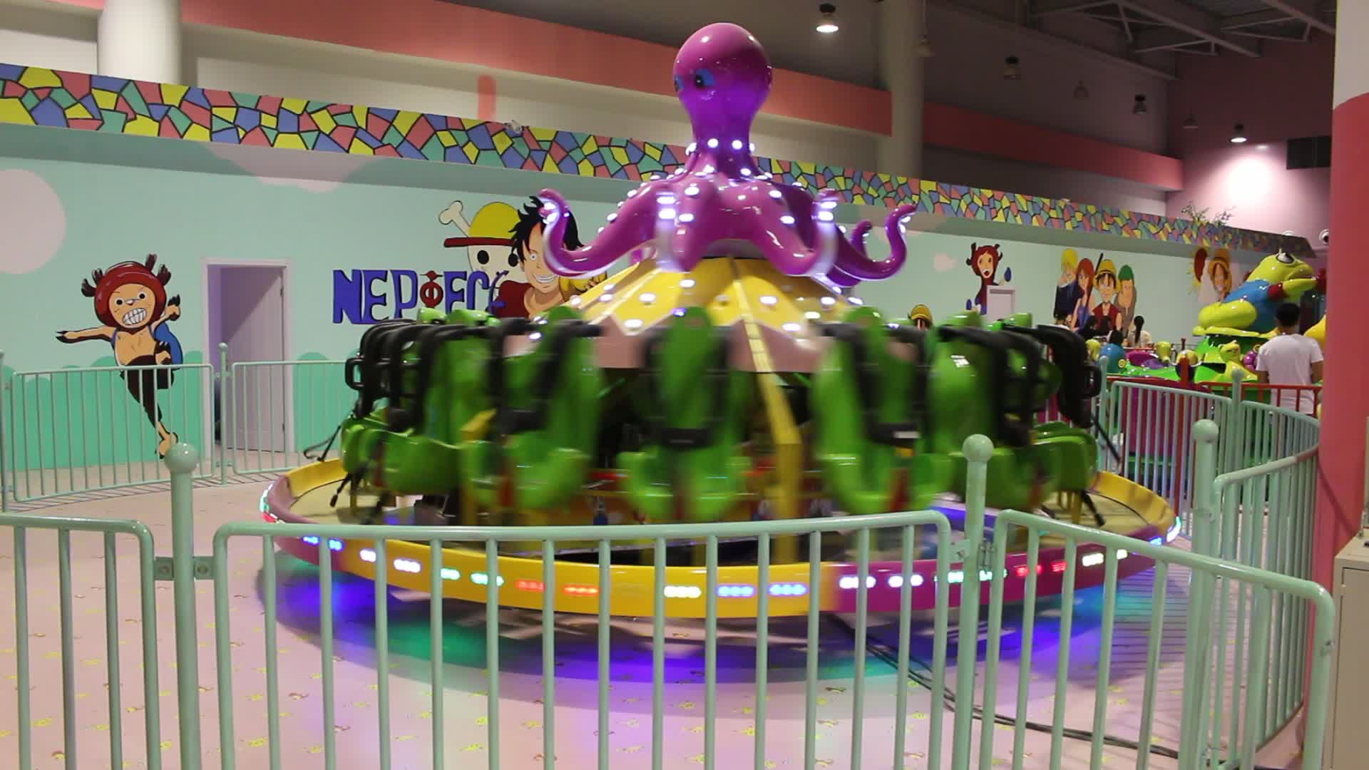 Цена по прейскуранту завода открытый парк развлечений Детские Игры Летающий Вращающийся Большой Осьминог езды на продажу