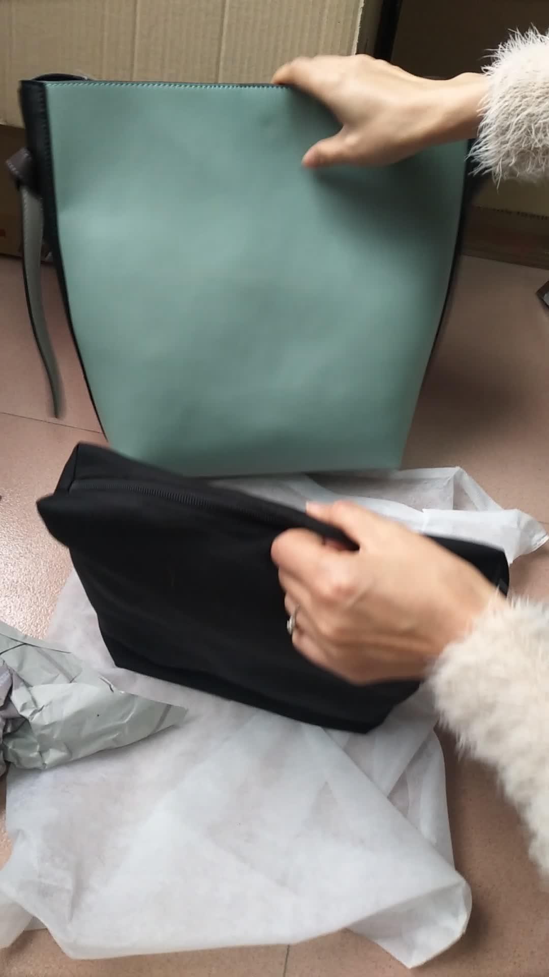 थोक मूल्य वास्तविक ढोना चमड़े के हैंडबैग महिलाओं के लिए