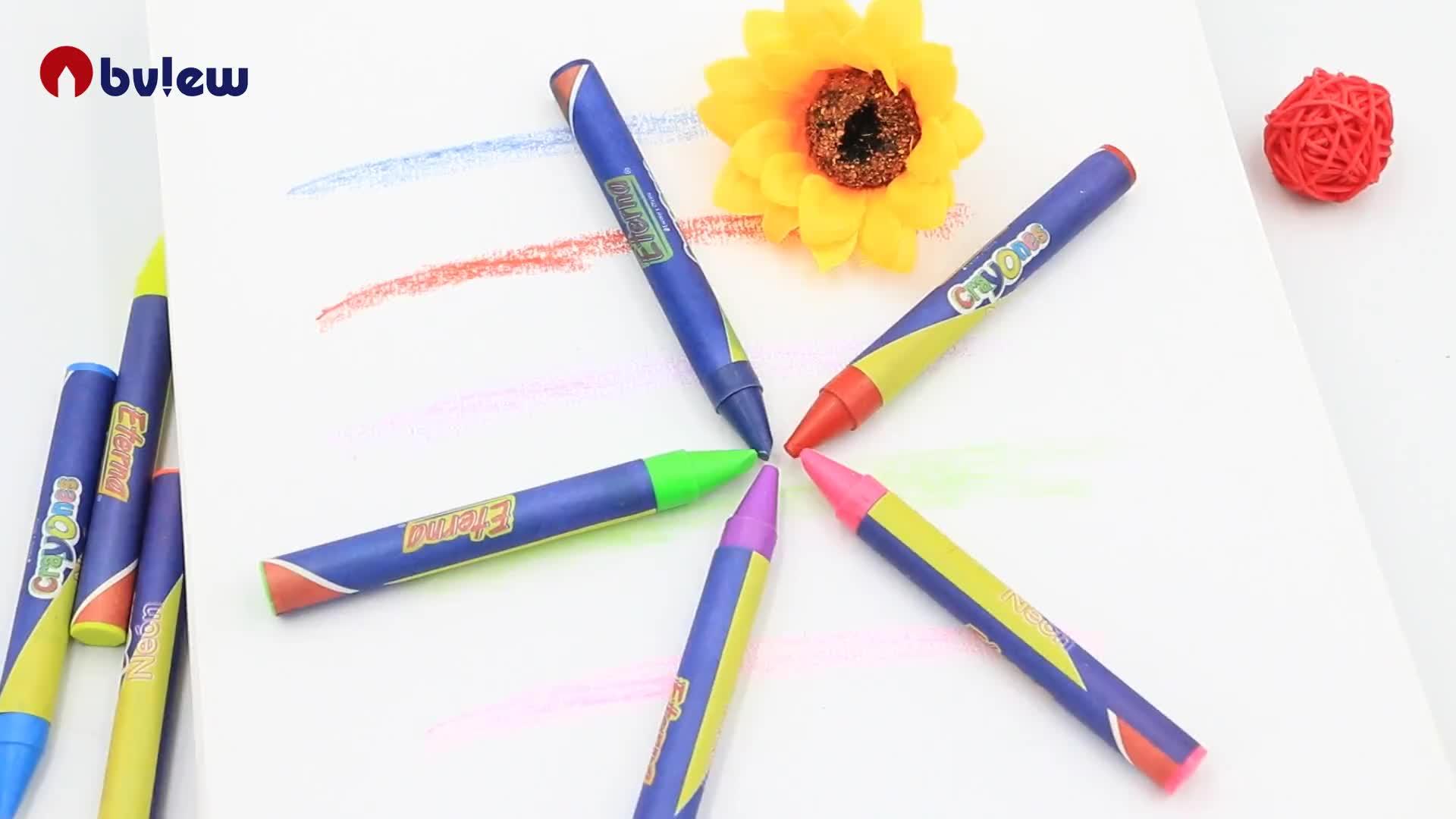 Оптовая продажа мелки художественный перо цвет воск карандаш набор