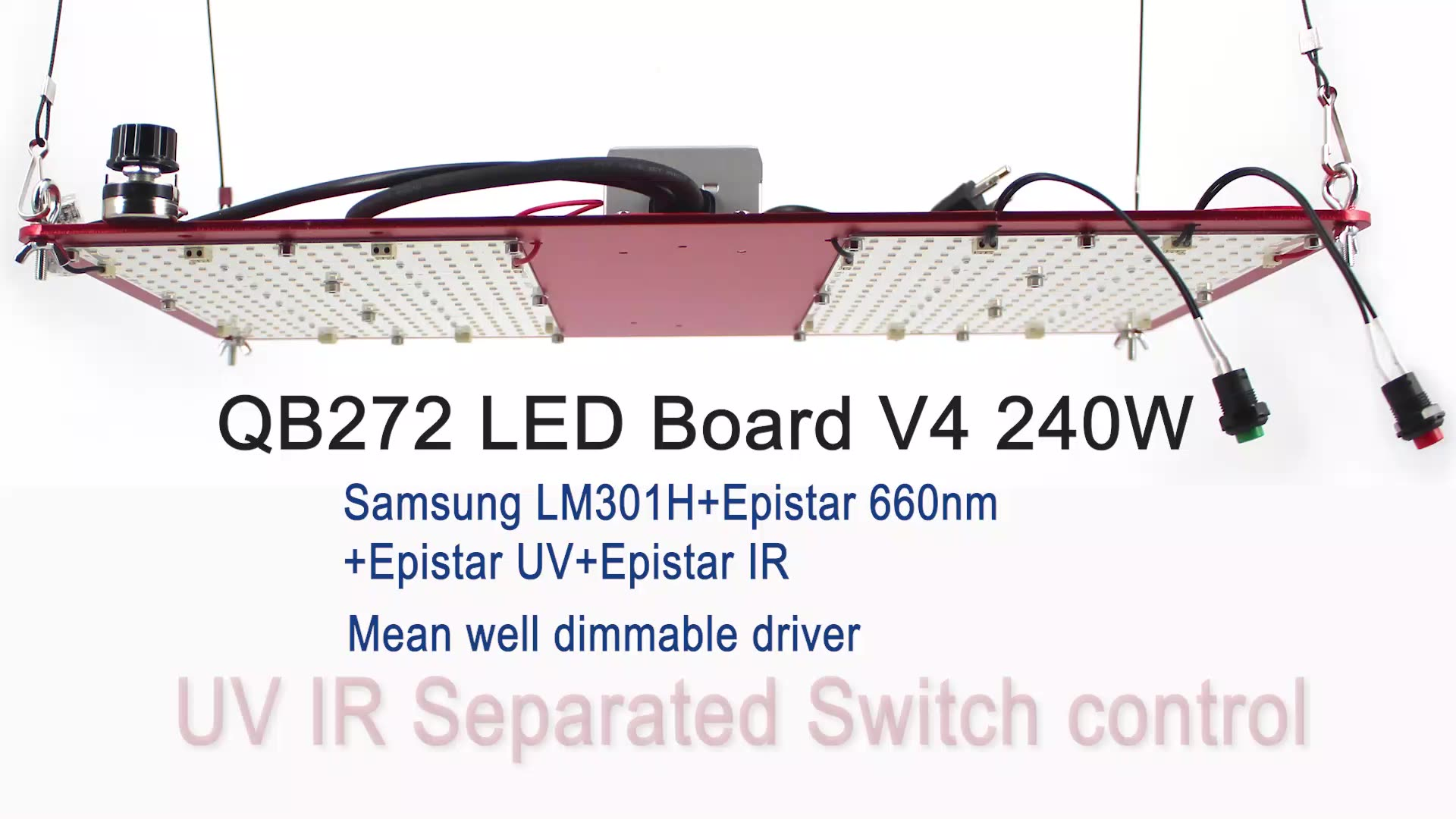 240w Samsung LED LM301H Board 3000K 3500K mix 660nm UV IR dimmable driver